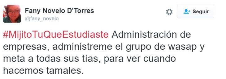 #MijitoTuQueEstudiaste administración