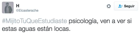 #MijitoTuQueEstudiaste psicología
