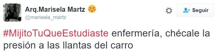 #MijitoTuQueEstudiaste enfermería