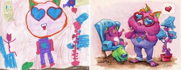 Proyecto Monstruos - monstruos padre e hijo
