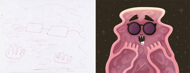 Proyecto Monstruos - monstruo que parece a glibber pero rosa