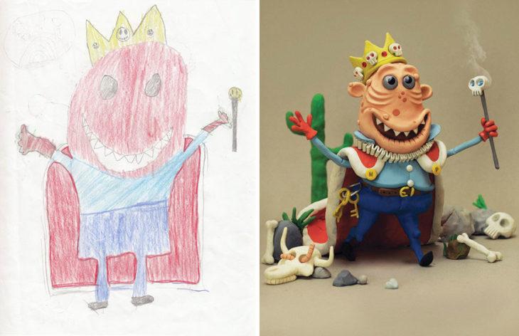 Proyecto Monstruos - un rey arrugado