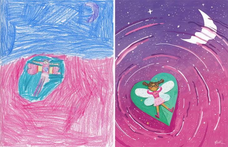 Proyecto Monstruos - hada recostada en un corazón en unlago