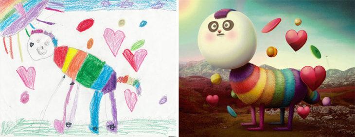 Proyecto Monstruos - un extraño gusano panda