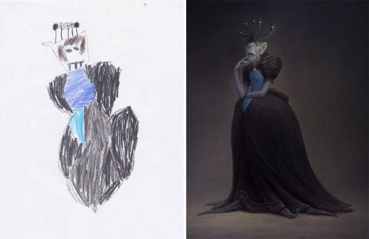 Proyecto Monstruos - reina mala vestida de negro