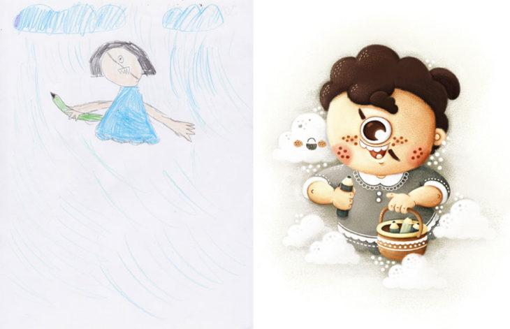 Proyecto Monstruos - niño con un solo ojo monstruo