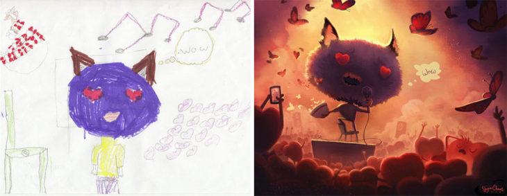 Proyecto Monstruos - Gato monstruo