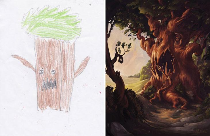 Proyecto Monstruos - un árbol monstruoso