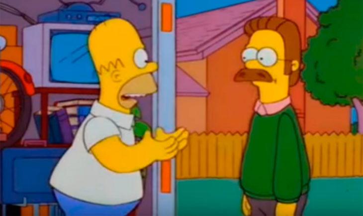 Homero y su vecino Ned Flanders
