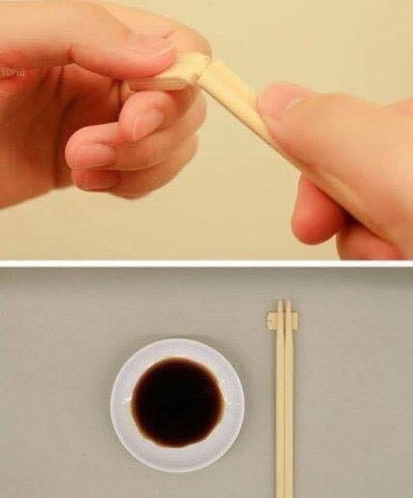método correcto de usar palillos chinos