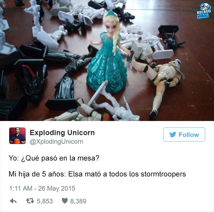 Elsa mató a los stormtroopers