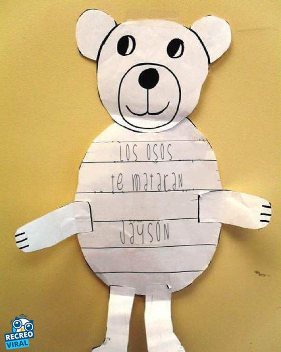 Notas niños: los osos te matarán