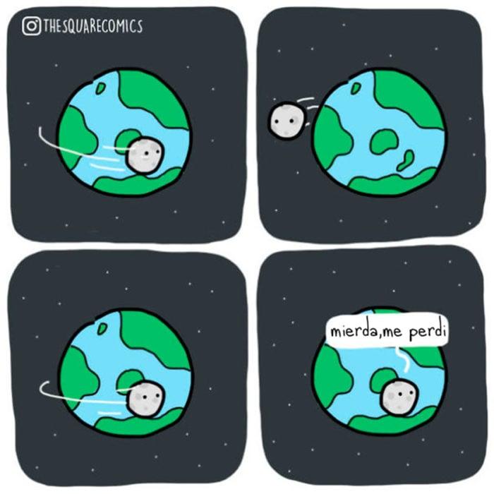 La luna se perdió