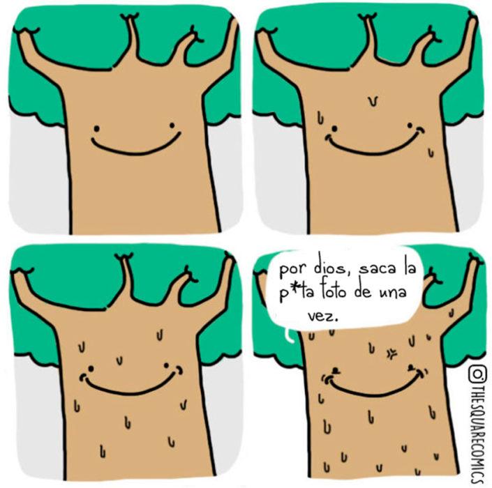El árbol sonriente