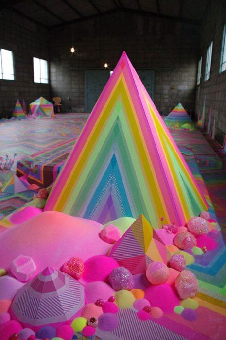 Pirámide de dulce