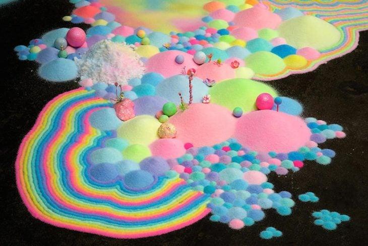 Un universo creado con dulces