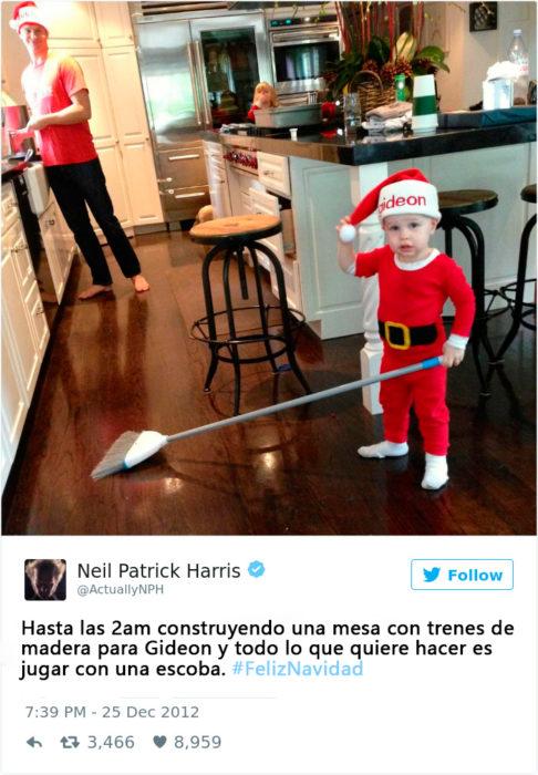 Tuits sobre el regalo de navidad de los hijos