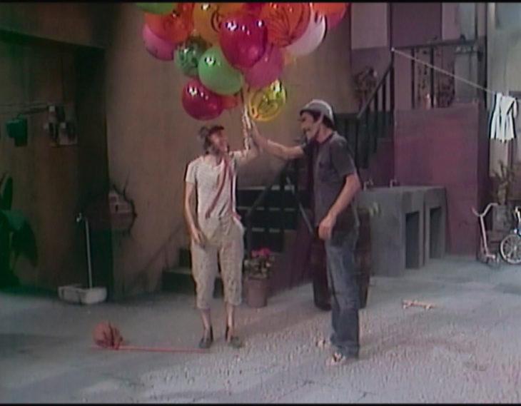 El chavo y don ramón con globos
