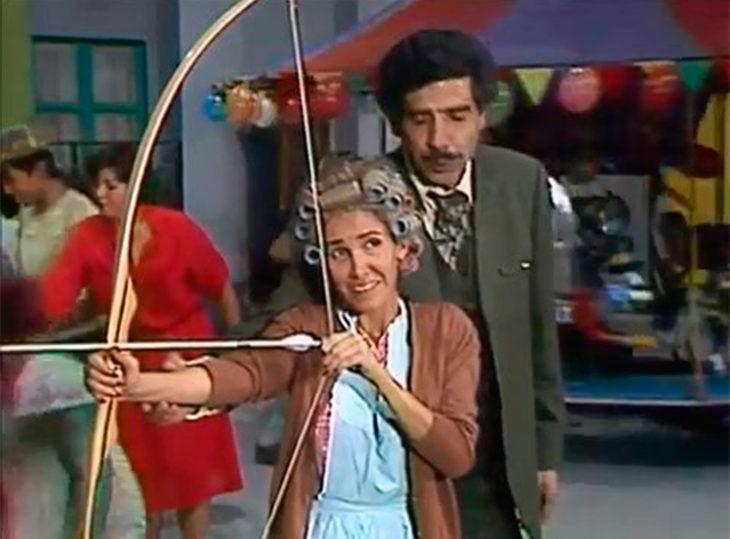 Doña Florinda y el Profesor jirafales