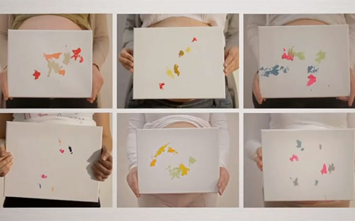 Pinturas realizadas por bebés que aún no nacen