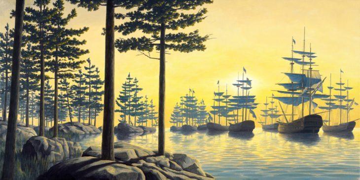 Barcos que se transforman en árboles