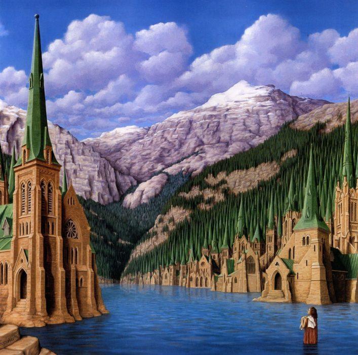 Castillos que forman montañas