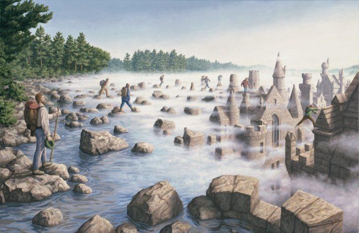 Río que se transforma en neblina