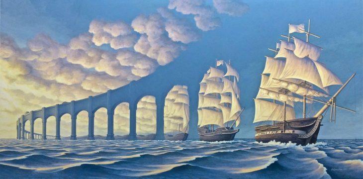 Barcos se transforman en arcos
