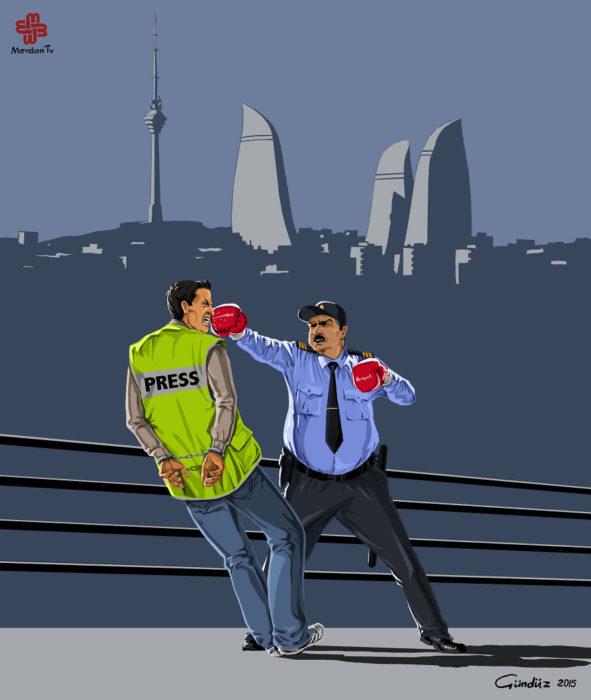 Policía en Azerbaiyán