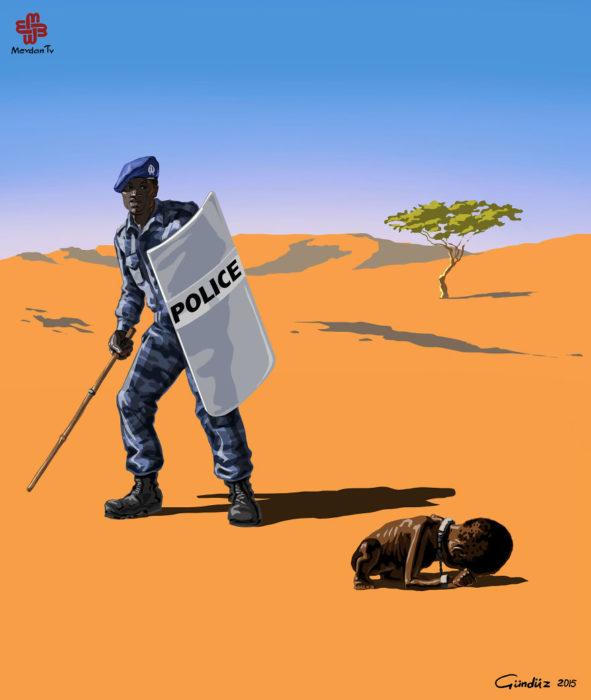 Policía en Sudán