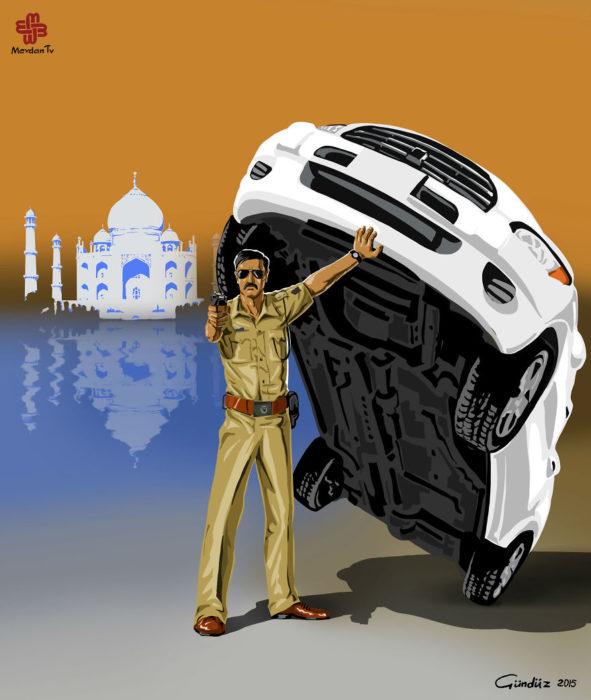 Policía en la India