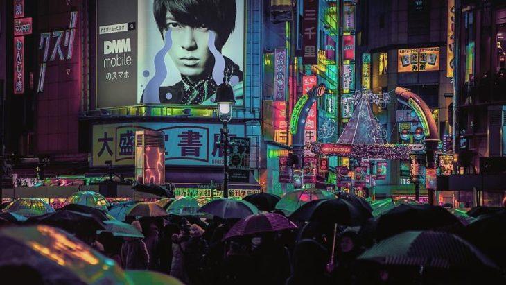 Una noche lluviosa en Tokio