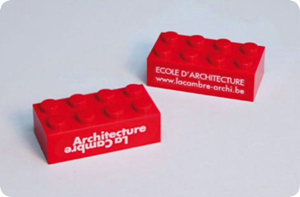 Tarjetas de presentación originales - bloques legos