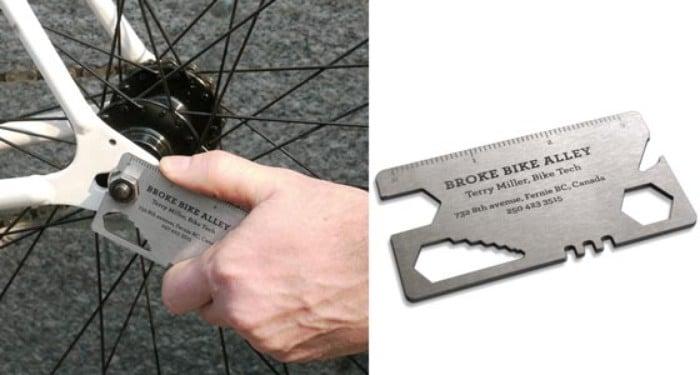 Tarjetas de presentación originales - desarmador bici