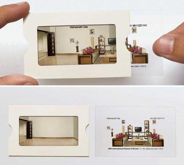 Tarjetas de presentación originales - casa vacía