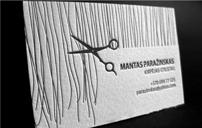 Tarjetas de presentación originales - corte de cabello