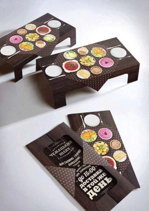 Tarjetas de presentación originales - mesas de comida