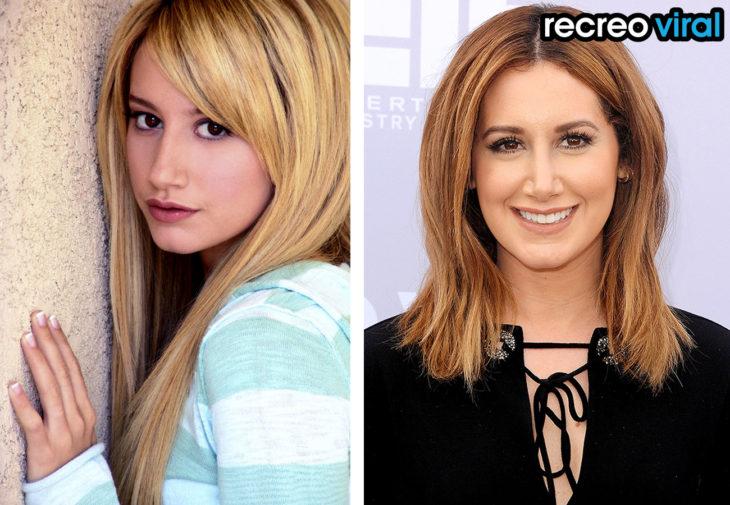 Ashley Tisdale antes y después