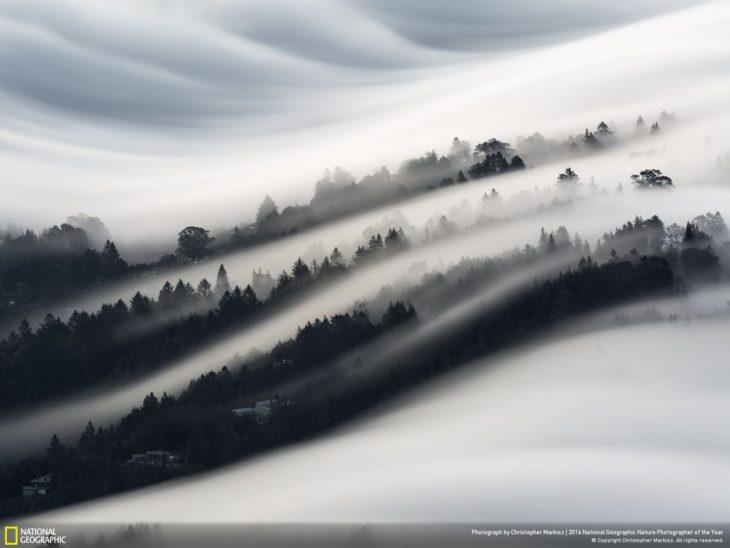 paisaje bajo las nubes