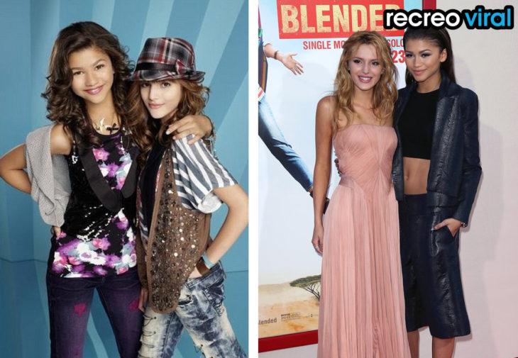 Bella Thorne y Zendaya antes y después
