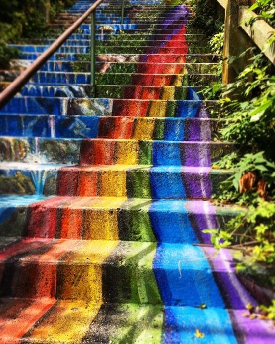 escaleras de arcoíris en arkansas