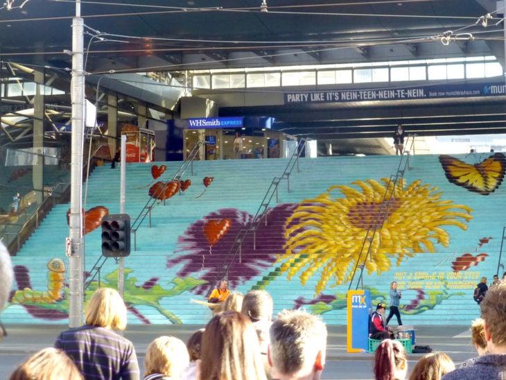 escaleras de flores en australia