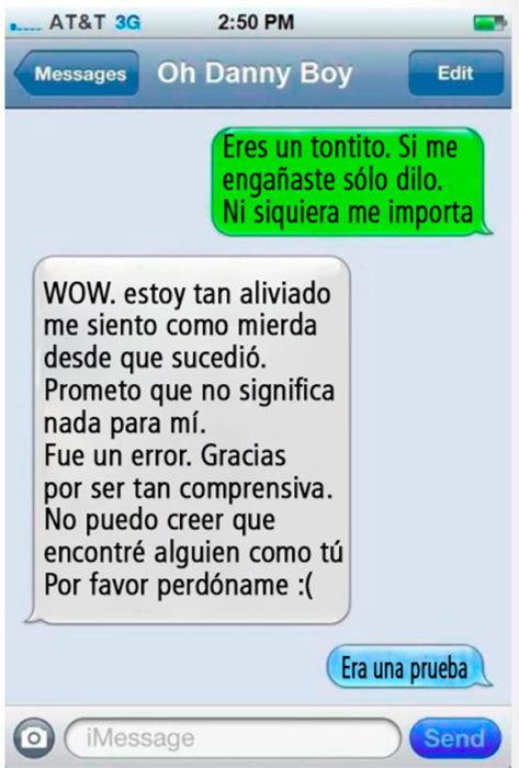 Mensajes de texto entre novios