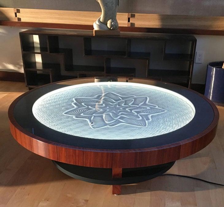 mesa con arena cinética