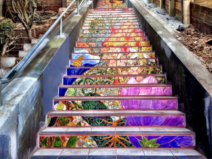escaleras de mosaico en estados unidos