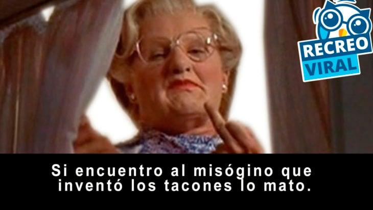 frase de la señora Doubtfire
