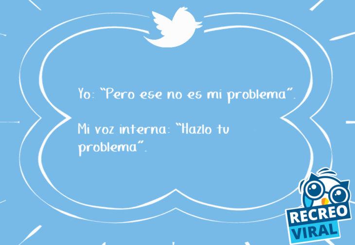 tuit no es mi problema