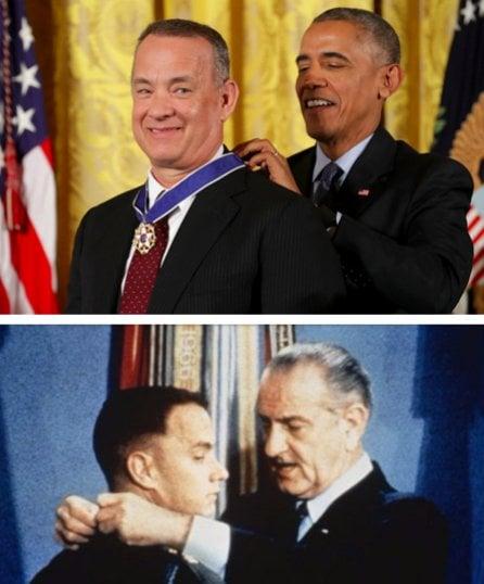 Forrest Gump medalla - Tom Hanks medalla