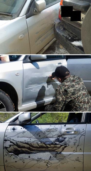 auto de coche golpeado