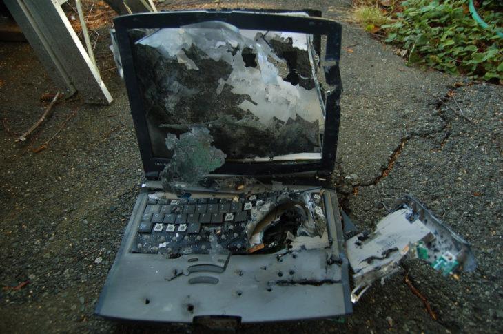 computadora quemada